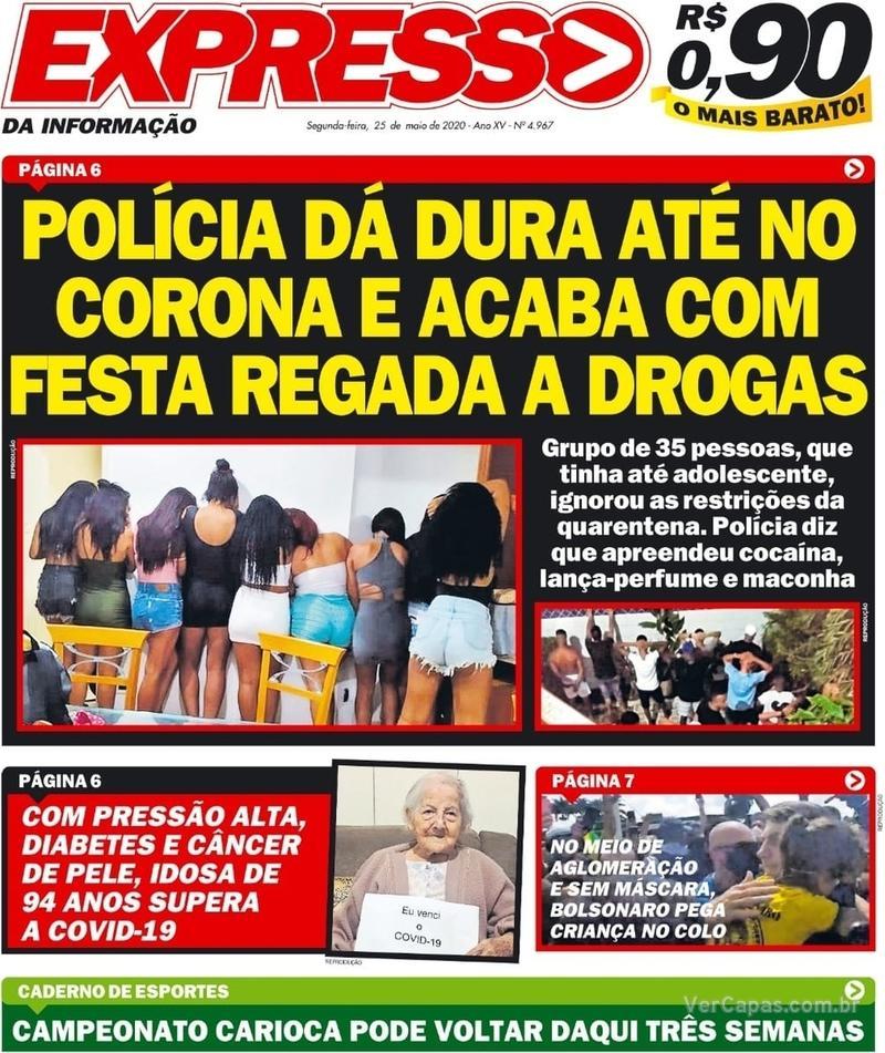 Capa do jornal Expresso da Informação 25/05/2020