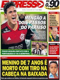 Capa do jornal Expresso da Informação 02/07/2020