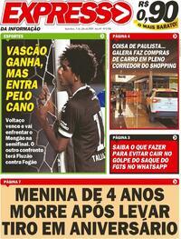 Capa do jornal Expresso da Informação 03/07/2020