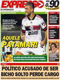 Capa do jornal Expresso da Informação 03/09/2020