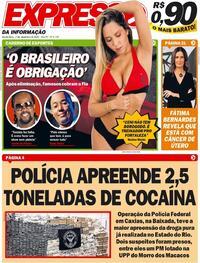 Capa do jornal Expresso da Informação 03/12/2020