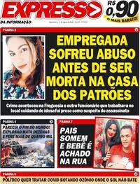 Capa do jornal Expresso da Informação 05/08/2020