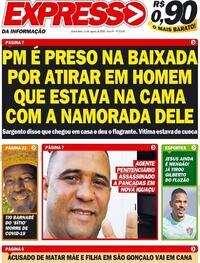 Capa do jornal Expresso da Informação 06/08/2020