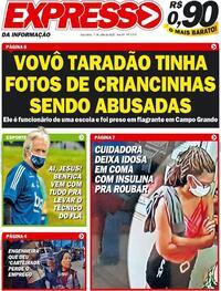 Capa do jornal Expresso da Informação 07/07/2020