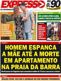 Capa do jornal Expresso da Informação 08/06/2020