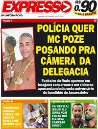 Capa do jornal Expresso da Informação 08/07/2020