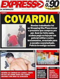 Capa do jornal Expresso da Informação 08/08/2020