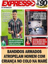 Capa do jornal Expresso da Informação 08/09/2020