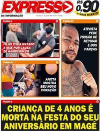 Capa do jornal Expresso da Informação 09/06/2020