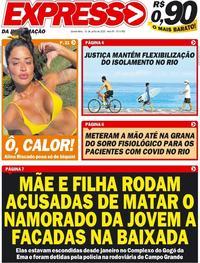 Capa do jornal Expresso da Informação 10/06/2020