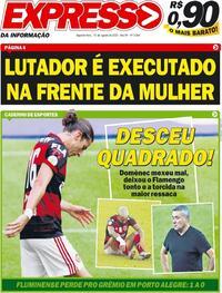 Capa do jornal Expresso da Informação 10/08/2020