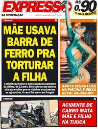Capa do jornal Expresso da Informação 12/06/2020