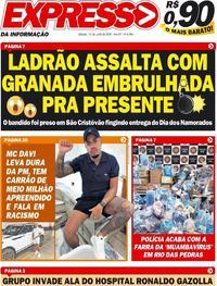 Capa do jornal Expresso da Informação 13/06/2020
