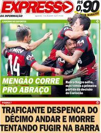 Capa do jornal Expresso da Informação 13/07/2020
