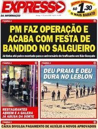 Capa do jornal Expresso da Informação 14/06/2020