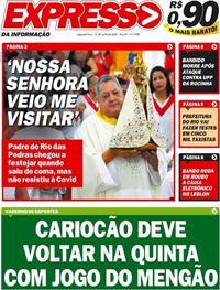 Capa do jornal Expresso da Informação 15/06/2020