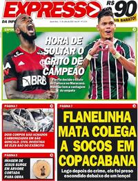 Capa do jornal Expresso da Informação 15/07/2020