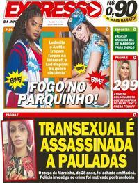 Capa do jornal Expresso da Informação 16/06/2020