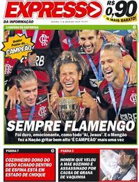 Capa do jornal Expresso da Informação 16/07/2020