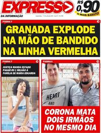 Capa do jornal Expresso da Informação 17/06/2020
