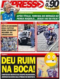 Capa do jornal Expresso da Informação 17/07/2020