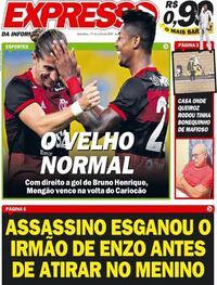 Capa do jornal Expresso da Informação 19/06/2020