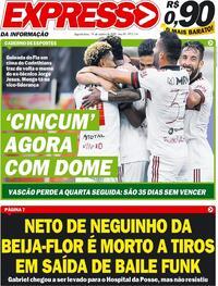 Capa do jornal Expresso da Informação 19/10/2020