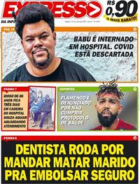 Capa do jornal Expresso da Informação 20/06/2020