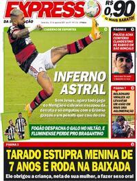 Capa do jornal Expresso da Informação 20/08/2020