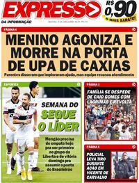 Capa do jornal Expresso da Informação 21/10/2020