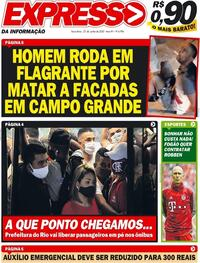 Capa do jornal Expresso da Informação 23/06/2020