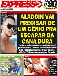 Capa do jornal Expresso da Informação 23/07/2020