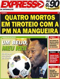 Capa do jornal Expresso da Informação 23/10/2020