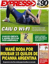 Capa do jornal Expresso da Informação 24/08/2020