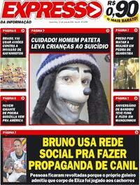 Capa do jornal Expresso da Informação 25/06/2020