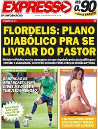Capa do jornal Expresso da Informação 25/08/2020