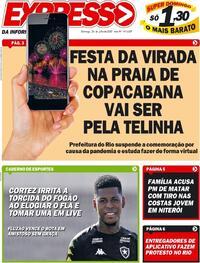 Capa do jornal Expresso da Informação 26/07/2020