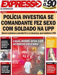 Capa do jornal Expresso da Informação 27/06/2020