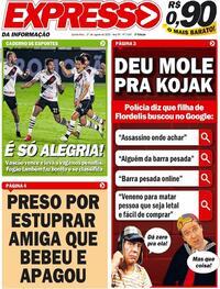 Capa do jornal Expresso da Informação 27/08/2020