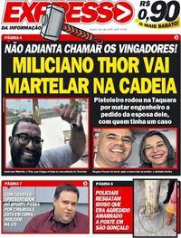 Capa do jornal Expresso da Informação 28/07/2020