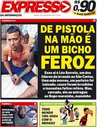 Capa do jornal Expresso da Informação 28/08/2020