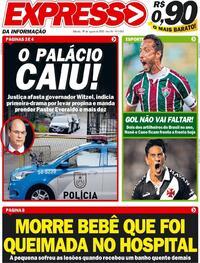 Capa do jornal Expresso da Informação 29/08/2020