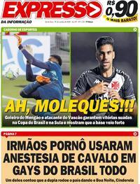 Capa do jornal Expresso da Informação 29/10/2020