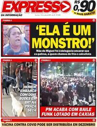 Capa do jornal Expresso da Informação 30/06/2020