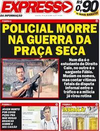 Capa do jornal Expresso da Informação 30/07/2020