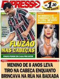 Capa do jornal Expresso da Informação 30/08/2020