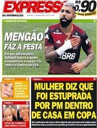 Capa do jornal Expresso da Informação 31/08/2020