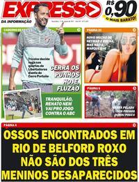 Capa do jornal Expresso da Informação 03/08/2021