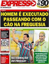 Capa do jornal Expresso da Informação 04/08/2021
