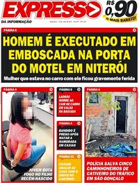 Capa do jornal Expresso da Informação 14/05/2021